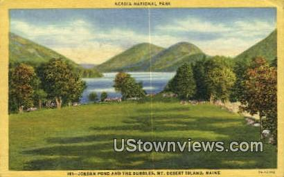 Jordan Pond, Mt. Desert Island - Acadia National Park, Maine ME Postcard