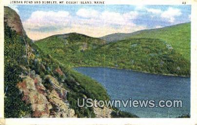 Jordan Pond & Bubbles - Mt. Desert Island, Maine ME Postcard