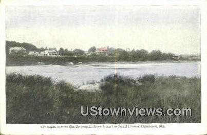 Cottages, Ogunquit River - Maine ME Postcard