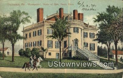 Home of Gen Henry Knox - Thomaston, Maine ME Postcard