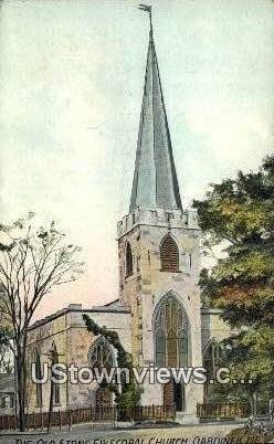 Our Stone Episcopal Church - Gardiner, Maine ME Postcard