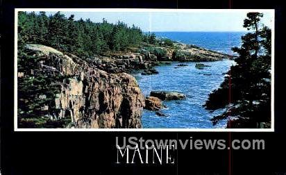 Schoodic Point - Acadia National Park, Maine ME Postcard