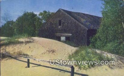 Original Old Farm Barn - Freeport, Maine ME Postcard