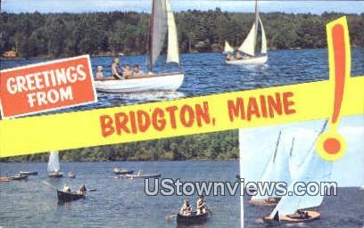 Bridgton, ME,     ;     Bridgton, Maine Postcard