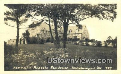 Real Photo - Kenneth Roberts Residence - Kennebunkport, Maine ME Postcard