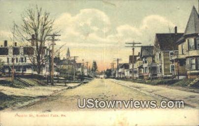 Franklin St - Rumford Falls, Maine ME Postcard