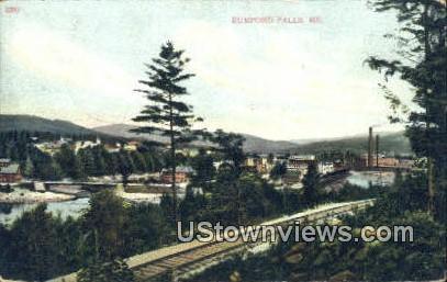 Rumford Falls, Maine,     ;     Rumford Falls, ME Postcard