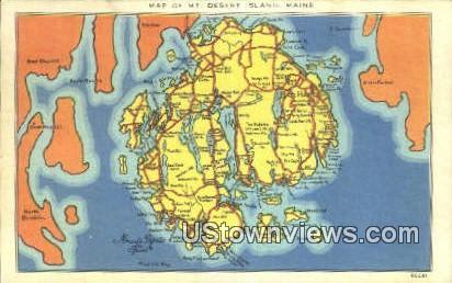 Mt. Desert Island, Maine,     ;     Mt. Desert Island, ME Postcard