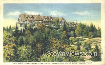 Summer home of Mr John D Rockefeller, Jr - Mt. Desert Island, Maine ME Postcard