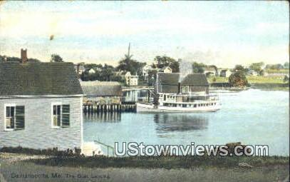 Boat Landing - Damariscotta, Maine ME Postcard