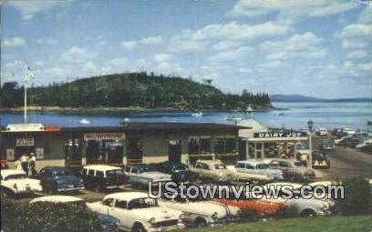 Municipal Pier, Frenchman's Bay - Mt. Desert Island, Maine ME Postcard