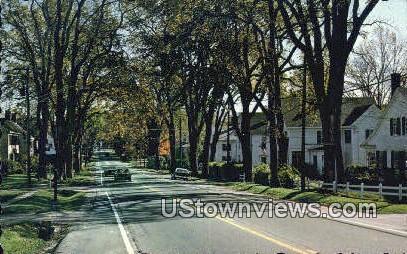 Main Street - Thomaston, Maine ME Postcard