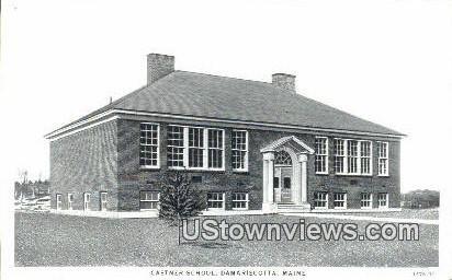 Castner School - Damariscotta, Maine ME Postcard