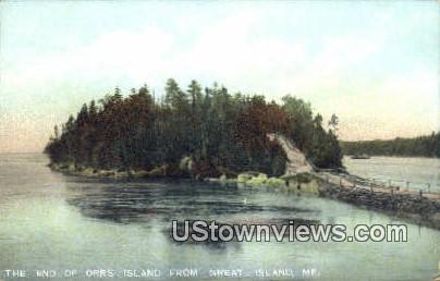 Great Island - Orrs Island, Maine ME Postcard