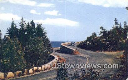 Ocean Drive, Otter Cliff - Mt. Desert Island, Maine ME Postcard