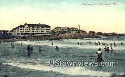 York Beach, Maine,     ;     York Beach, ME Postcard