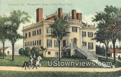 Montpelier Home of Gen Henry Knox - Thomaston, Maine ME Postcard