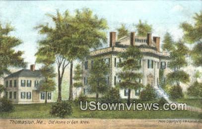 Old Home of Gen Knox - Thomaston, Maine ME Postcard