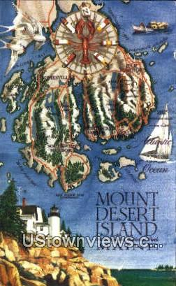 Mt. Desert Island, ME,     ;     Mt. Desert Island, Maine Postcard