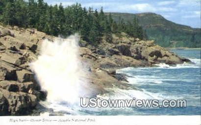 High Surf, Ocean Drive - Acadia National Park, Maine ME Postcard
