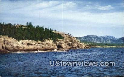 Frenchman's Bay Cruise Boat - Mt. Desert Island, Maine ME Postcard