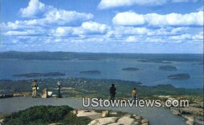 Bar Harbor, Mt. Cadillac - Acadia National Park, Maine ME Postcard