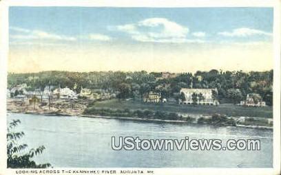 Kennebec River - Augusta, Maine ME Postcard
