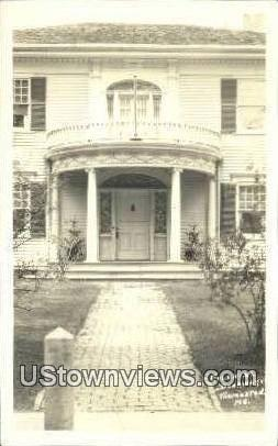 Real Photo - Colonial Doorway - Thomaston, Maine ME Postcard