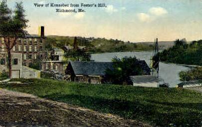 Kennebec - Richmond, Maine ME Postcard