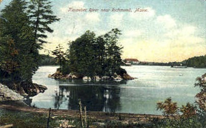 Kennebec River - Richmond, Maine ME Postcard