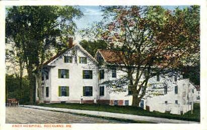 Knox Hospital - Rockland, Maine ME Postcard