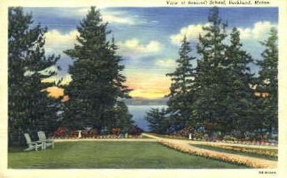 Bancroft School - Rockland, Maine ME Postcard