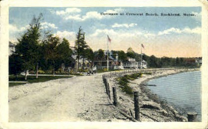 Cottages, Crescent Beach - Rockland, Maine ME Postcard