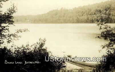 Real Photo, Songo Lake - Bethel, Maine ME Postcard