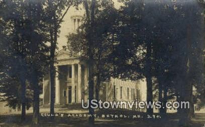Real Photo, Gould's Academy - Bethel, Maine ME Postcard