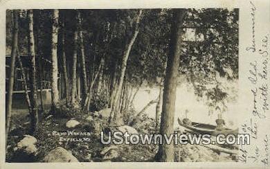 Real Photo, Camp Wanaka - Enfield, Maine ME Postcard