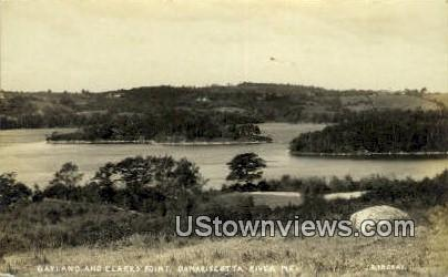 Real Photo, Gayland & Clark's Point - Damariscotta, Maine ME Postcard