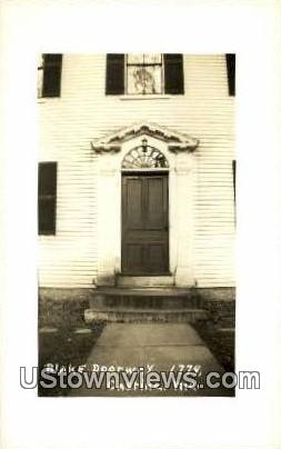 Real Photo, Blake Doorway, 1779 - Castine, Maine ME Postcard