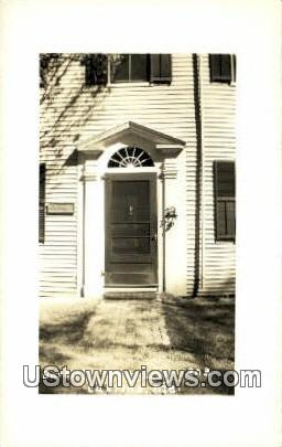 Real Photo, Bartlett Doorway, 1803 - Castine, Maine ME Postcard