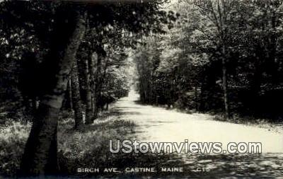 Real Photo, Birch Ave - Castine, Maine ME Postcard