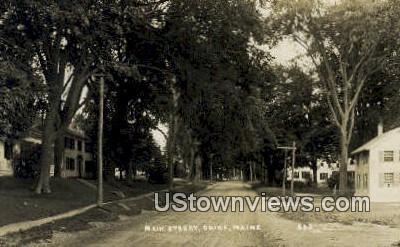 Real Photo, Main Street - China, Maine ME Postcard