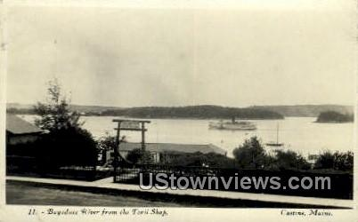 Real Photo, Bagaduce River - Castine, Maine ME Postcard