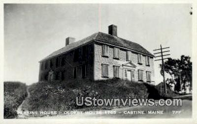 Real Photo, Perkins House Oldest house 1765 - Castine, Maine ME Postcard