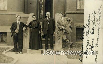 Real Photo, Henry, Birtram, Garfield & Pratt - Hebron, Maine ME Postcard