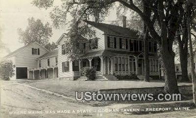 Real Photo, Codman Tavern - Freeport, Maine ME Postcard