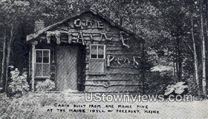Real Photo, Cabin, Maine Idyll - Freeport Postcard