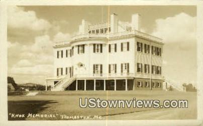 Real Photo, Knox Memorial - Thomaston, Maine ME Postcard