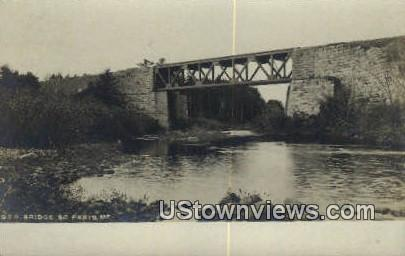 Real Photo, GTR Bridge - South Paris, Maine ME Postcard