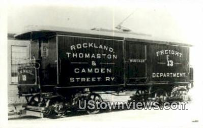 Real Photo, Freight 13, Rockland, Thomaston - Maine ME Postcard