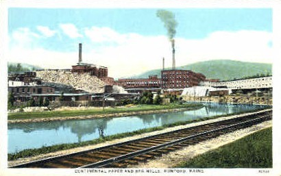 Continental Paper & Bag Mills - Rumford, Maine ME Postcard